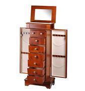Jewelry And Watch Box Armoires In Mahogany 7 Drawer Case By Diplomat 31-558
