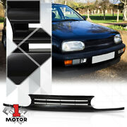For 1993-1999 Vw Golf/cabrio Mk3 {horizontal-bar} Black Abs Front Bumper Grille