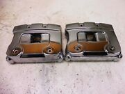 1985 Harley Flht Classic Electra Glide Sm386 Engine Head Covers Rocker Boxes
