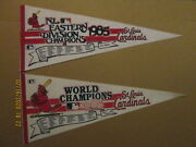 Mlb St.louis Cardinals 1985 Eastern Div.champs And Phantom World Champs Pennants