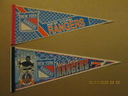 Nhl New York Rangers Vintage 1990's And 1994 Stanley Cup Champs Hockey Pennants