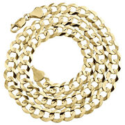 14k Yellow Gold 8mm Solid Plain Curb Cuban Chain Link Necklace 20 - 30 Inches