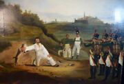 A.l.p. Skilling 19th Century Painting Military Execution