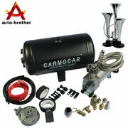 Air Horn Kit Loud Triple Trumpet With 98c 1 Gallon Best Buy For Car Truck Rv