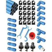 Rapid Air F28090 1 Inch Fastpipe 90 Ft Compressed Air Piping System Master Kit