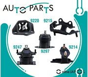 Engine And Trans Mount 5pcs For Honda Accord 3.0l 2003-07 Hyd W/ Vacuum Pin Auto T