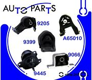 Engine Motor And Trans Mount Kit 5pcs For 2003-11 Honda Element 2.4l L4 For Auto T