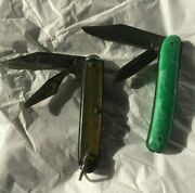 2 Vintage Knives Colonial And Thornton U.s.a. 2 Blade Pocket Knifes