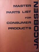 Jacobsen Lawn Garden Tractor Attachments And Implements 58000-59798 Parts Manual