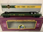 ✅mth Premier Reading Flat Car And 48' Trailer O Scale Tofc Intermodal