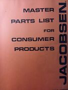 Jacobsen Lawn Garden Tractor Attachments And Implements 59800-59934 Parts Manual