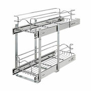 Rev-a-shelf 5wb2-0922cr-1 9 X 22 2-tier Cabinet Pull Out Wire Basket Chrome