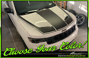 Hood Decal Racing Blackout Stripes 10 -fits Jeep Grand Cerokee Srt-8 2011 And Up