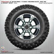4 Double Take Machined Black Green Lifted 57 Series Wheel Andtire 12 Golf Car