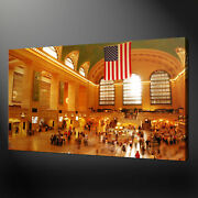 Grand Central Terminal Station New York Canvas Picture Wall Art Ready To Hang