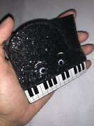 Kate Spade Jazz Things Up Piano Card Holder Wallet Glitter