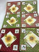 Mww Market Mini Decorative Plates Embossed - Set Of 6 Sunflowers And Bees