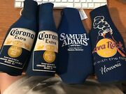 4 Bottle Coozies, One New Sam Adams, 2 Used Corona, One Lava Rock Cafe Hawaii