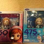 Frozen Ana And The Snow Queen Nendoroid Elsa And Ana Figure Japan Plush Doll