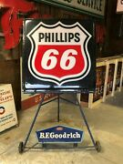 Lqqk Original Vintage Bf Goodrich Tire Sign And Stand Sign Display Old Advertising