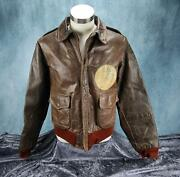 Wwii Officer Us Army Air Force Corp Leather A2 Bomber Jacket Usaf Monte Carlo 42
