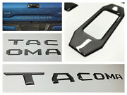 Charcoal Dark Gray 3d Domed Letters Inserts For Toyota Tacoma 2016-2020 Tailgate