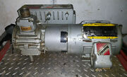 1 Used Busch Rc0025.e506.1001 Single Stage Rotary Vacuum Pump W/ Motor