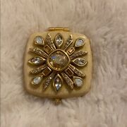 Jay Strongwater Bejeweled Deco Compact Mirror