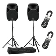 Wharfedale Pro Titan Ax12 12 Active Pa Speakers With Stands And Cables Pair