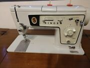 Vintage Singer Zig Zag Model 478 Table With Bench Sewing Machine