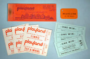 1960s Whitneys Playland At The Beach Unused Tickets Amusement Park San Francisco
