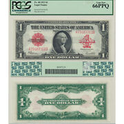 1923 1 Legal Tender Fr40 Pcgs Currency Certified Gem New 66ppq Red Seal