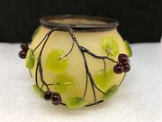 Nib Dept 56 Time To Celebrate Beaded Vine Votive Candle Holder Frosted Grapevine