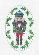 Sp.order Blue And Green Nutcracker King Oval Needlepoint Canvas Creative Needle