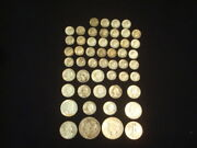 10 Face Value Lot Of 90 Silver U.s. Coins Mixed Variety L14
