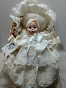 Gerber Baby Doll 1981 Christening Gown With Bonnet And Basket Vintage