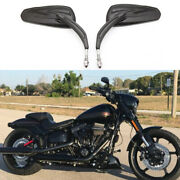 For Harley Davidson Breakout Cvo Pro Street Motorcycle Rear View Mirrors Black