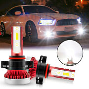 2x 6000k White 2504 100w Led Front Fog Lamp Bulbs For Dodge Charger 2010-2014