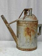 Rustic Antique French Watering Can - Zinc