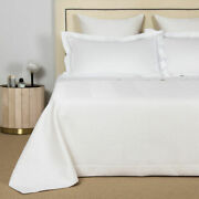 3000 Nwt Frette Luxury Herringbone King Bedspread Current Collection Free S/h