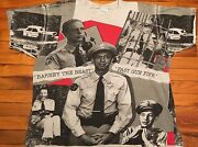 Vintage Andy Griffith Tee All Over Print Barney Fife Punk Rock 90s Xl