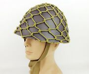 Wwii Japanese Army Military Type 90 Helmet With Cutton Helmet Net Cover