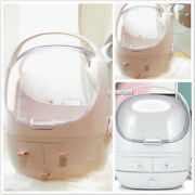 Travel Dustproof Makeup Cosmetic Storage Box With Cover Drawer Container Box Qk