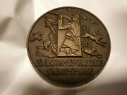 Rare Award Hunting Federation French Bronze Superb Quality Art Medals Animals