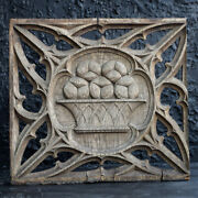 Early 19th Century English Oak Gothic Open Tracery