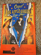 Oops The Big Apple Circus Stage Show Cerritos Centre Poster 14 X 22