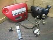 1967 Yamaha Yl1 Trailmaster 100 Oil Lines Pump Tank Rubber Strap And Side Cover