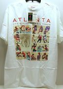 1996 Atlanta Summer Olympics Usps Stamp T-shirt Men's L White New In Package.