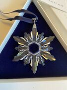 New 1998 Christmas Snowflake Ornament In Box And Coa