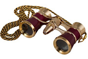 Levenhuk Broadway 325f Opera Glasses Red Theater Binoculars With Led Light And